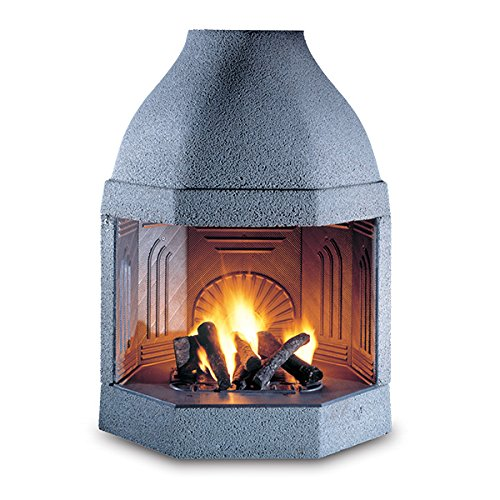 masonry wood burning cast iron fireplace ghisafort octagon