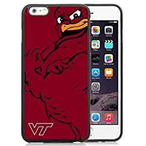 NEW Personalized Customized Iphone 6 Plus Case with NCAA Atlantic Coast Conference ACC Footballl Virginia Tech Hokies 6 Protective Cell Phone TPU Cover Case for Iphone 6 Plus Generation 5.5 Inch Black by runtopwell