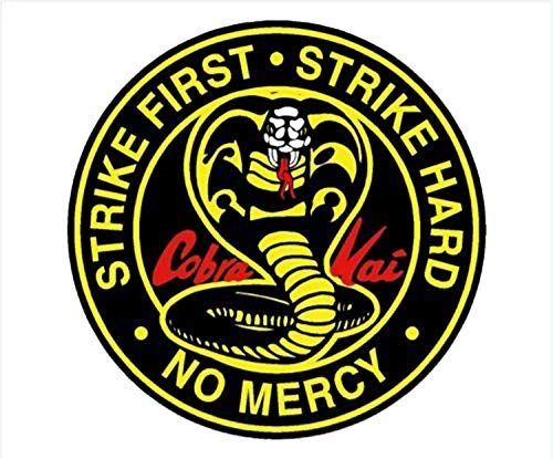 - D Sticky Company Cobra Kai Full Color Bumper Sticker Vinyl Decal Karate Kid Johnny Lawrence (4 INCH)