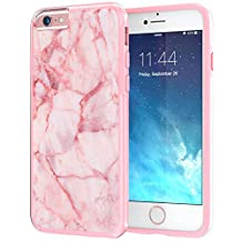 """iPhone 6 6s Case, True Color® Pink Marble [Stone Texture Collection] Slim Hybrid Hard Back + Soft TPU Bumper Protective Durable [True Protect Series] iPhone 6 / 6s 4.7"""""""