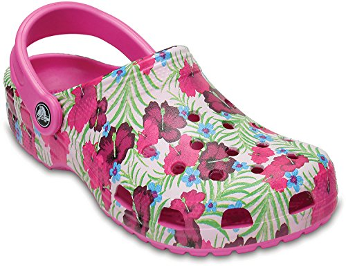 Crocs Unisex Classic Graphic Clogs Party Pink DwWOV