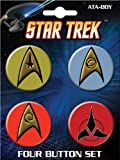 Ata-Boy Star Trek Insignias 4 Button Set