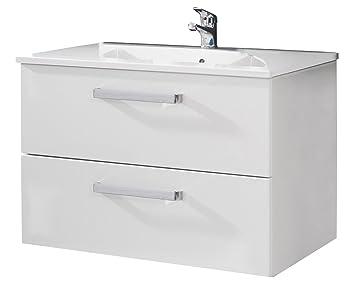 trendteam ADO31301 Hänge-Waschbeckenunterschrank inklusive ... | {Waschbecken küche weiß 72}