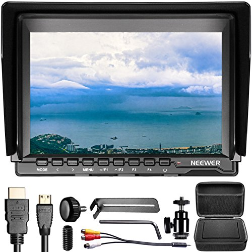 (Neewer NW759(C) 7 inches Camera Field Monitor Kit: 1280x800 IPS Screen Monitor 16:10 or 4:3 Adjustable Display Ratio with Storage Carrying Case for Nikon Sony Canon Olympus Pentax Panasonic Cameras)