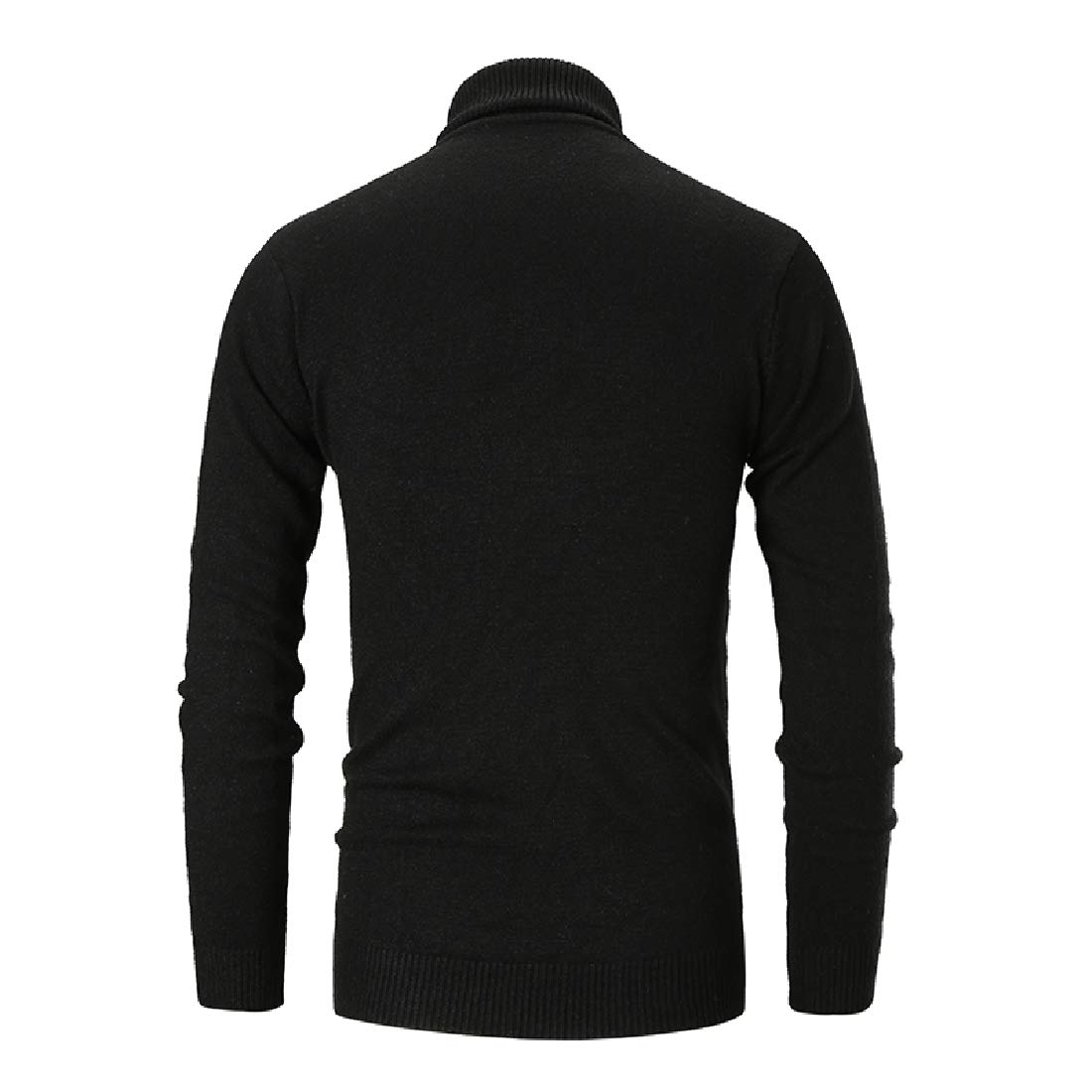 YUNY Mens Basic Solid-Colored Long Sleeve Fashion Fit Pullover Sweater Black XL