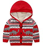 Product review for Boys Girls Winter Knitted Elephant Long Sleeve Sweaters Cardigan W/Pocket Jacket