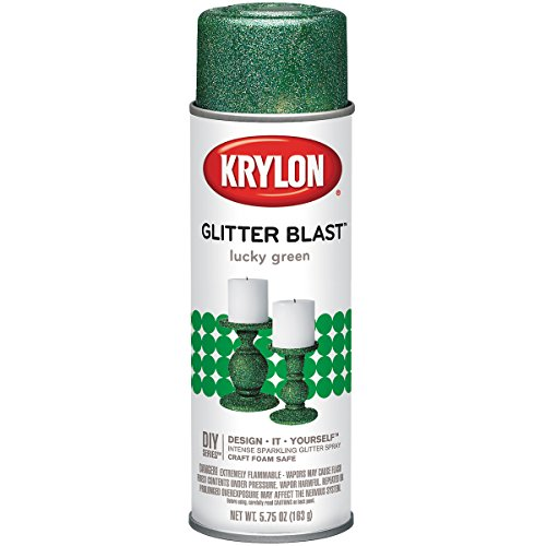 - Krylon Glitter Blast Paint 5.75oz Lucky Green