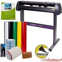USCutter Vinyl Cutter MH 34in BUNDLE - Sign Making Kit w/Design & Cut Software, Supplies, Tools