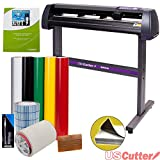 PC Hardware : Vinyl Cutter USCutter MH 34in BUNDLE - Sign Making Kit w/Design & Cut Software, Supplies, Tools