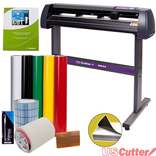 Vinyl Cutter USCutter MH 34in BUNDLE – Sign Making Kit w/Design & Cut Software, Supplies, Tools