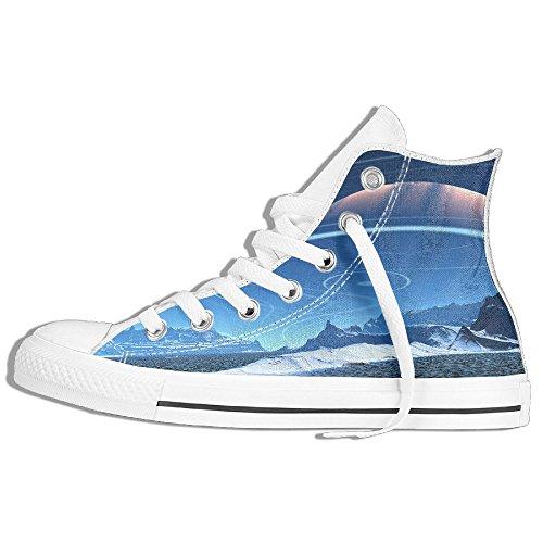 Classiche Sneakers Alte Scarpe Di Tela Anti-skid Mountain Islandese Casual A Passeggio Per Uomo Donna Bianco