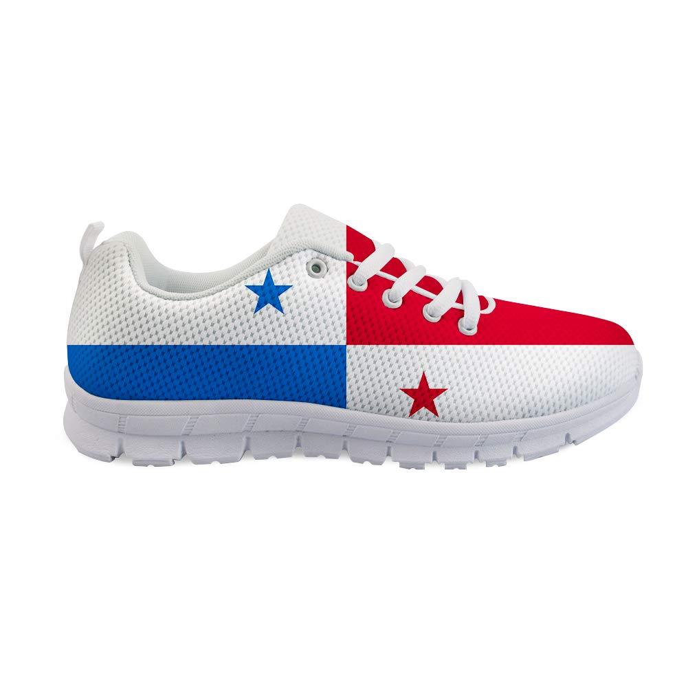 Owaheson Lace-up Sneaker Training Shoe Mens Womens Panama Flag