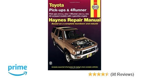Toyota Pickup '79'95 (Haynes Repair Manuals): Haynes: 0038345006562 on
