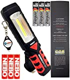 BUNDLE: Nebo Workbrite 2 Magnetic High Power 200 LED Work Light 6304 w/Extra 3x AAA Energizer Batteries and Lightjunction Keychain Light
