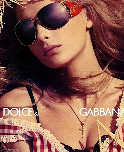**PRINT AD** With Julia Stegner For 2006 Dolce & Gabbana Sunglasses **PRINT - 2006 Gabbana Dolce