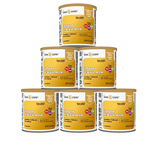 Basics Milk (Love & Care Infant Milk-Based Powder Infant Formula with Iron, 12.5 Ounce (Pack of 6))