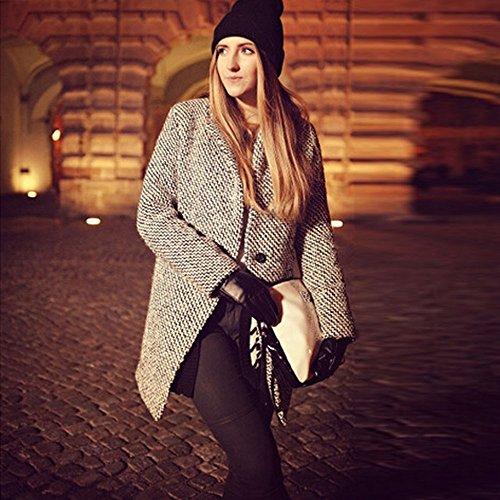 Manteau Ermeture Coupe Éclair Mode Décontractée vent Manches Solide Femme Veste Sweat Youngii Noir Longue wq7AZZ