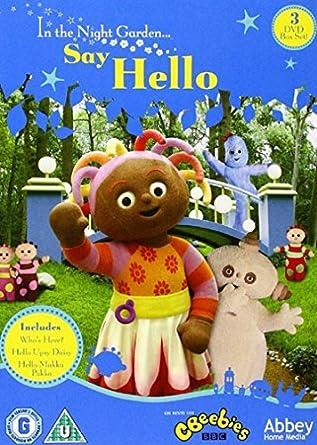 El jardín de los sueños / In The Night Garden: Say Hello - 3-DVD Box Set In the Night Garden… Origen UK, Ningun Idioma Espanol: Amazon.es: Derek Jacobi, Nick Kellington, Andy Wareham,