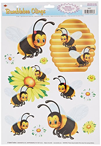 Beistle 54427 Bumblebee Clings, 12 by - Bee Window Bumble