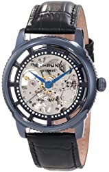 Stuhrling Original Men's 393.33X56 Classic Winchester Skeleton Automatic Skeleton Blue Watch