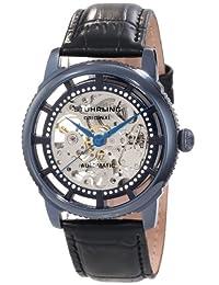 Stuhrling Original Men's 393.33X56 Classic Winchester Skeleton Automatic Skeleton Blue IP Watch