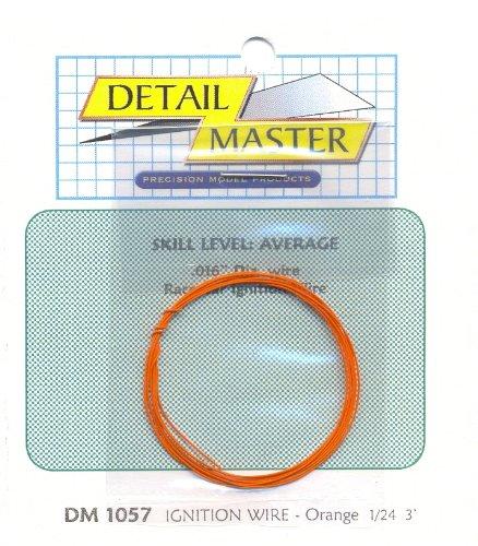 3ft. Race Car Ignition Wire Orange Detail Master