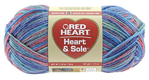 Red Heart Nylon Yarn - RED HEART Heart and Sole E840 Yarn, Sorbeto