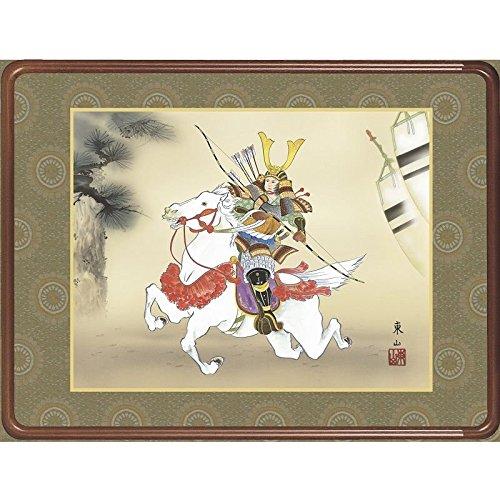 [額][若武者]榎本東山[端午の節句の額絵][f6-176] B01FGVPIYA