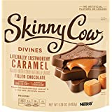 Skinny Cow Divines Filled Chocolate Candy, Caramel, 5.28 oz
