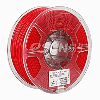 esun 3d filamento - petg, 1 kg, 1.75 mm - color rojo (Red ...