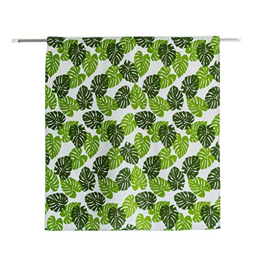 (Tower Stripe Flower Leaf Semi-Blackout Short Curtains Printing Window Valance Living Room Bedroom Drapes)