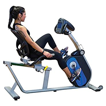 Body Solid B4R Endurance Recumbent Bike with LED Display and Transport Wheels