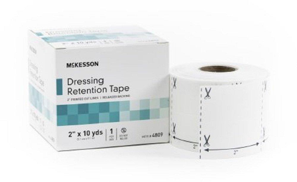 McKesson - Dressing Retention Tape NonWoven Fabric / Printed Release Paper 2 Inch X 10 Yard White NonSterile - 12/Case - McK