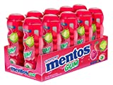 Mentos Sugar-Free Chewing Gum, Red Fruit Lime, Non Melting, 15 Piece Bottle (Pack of 10)