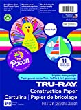 Pacon Tru-Ray Assorted Colors Smart Stack Construction Paper, 9'' W x 12'' L (Pack of 240)