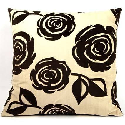 Amazoncom Kd Fuzzy Pillow Chocolate Flowers Set Of 2 Home Kitchen