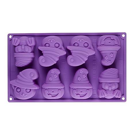 MolDe Silicona Reposteria Calabaza de Halloween Forma Patrón de Silicona Pastel Hornear MolDe Jabón Jabón MolDe