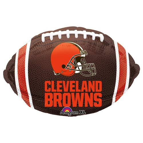 "Anagram 29586 NFL Cleveland Browns Football Team Colors Foil Balloon 17"" Multicolored"