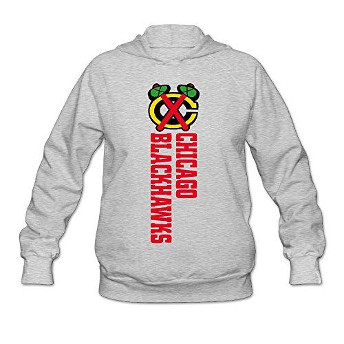 [AK79 Women's Sweater Chicago Logo Blackhawks Size M Ash] (Nerf Boy Costume)
