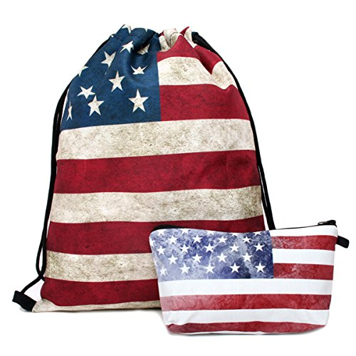 Deanfun Print Drawstring Backpack Rucksack Shoulder Bags Gym Bag (Animals,foods) 15