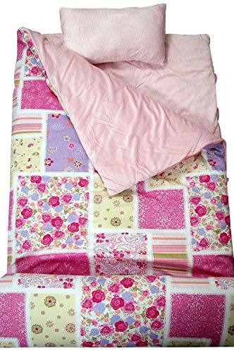 SoHo Kids Classic Children Sleeping Slumber Bag with Pillow and Carrying case Lightweight Foldable for Sleep Over (Bella's Collection)