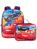 Disney Cars Jackson & Lightning McQueen 16' Backpack W/ Detachable Lunch Box