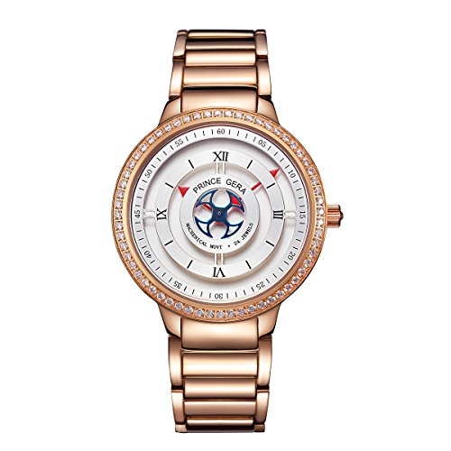 PRINCE GERA Waterproof Automatic Couples Watch Valentine's Day Hers Gift Rose Gold by PRINCE GERA