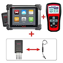 Autel Maxisys MS908+TS401+MV105+MP408 - Diagnostic Scanner with Specific Car ECU Coding& Programming TPMS Diagnostics & Service and Inspection Video Scope for Auto Service Centers or Workshops & Basic