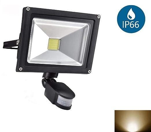 30W Foco con Sensor Movimiento Proyector LED Exterior Iluminación de Exterior y Seguridad para patio,