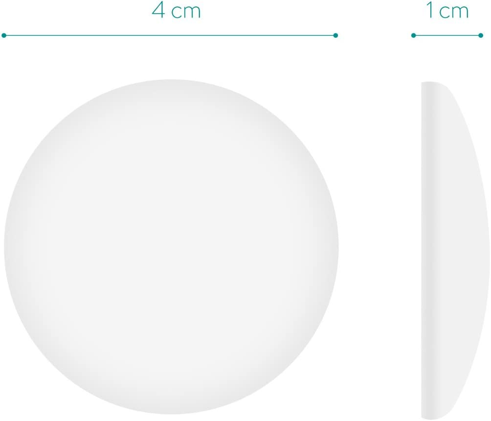 1.6 Navaris Door Stop Wall Bumpers Pack of 10 White Self-Adhesive Foam Bumper Stopper Protectors to Prevent Damage from Door Handles and Knobs