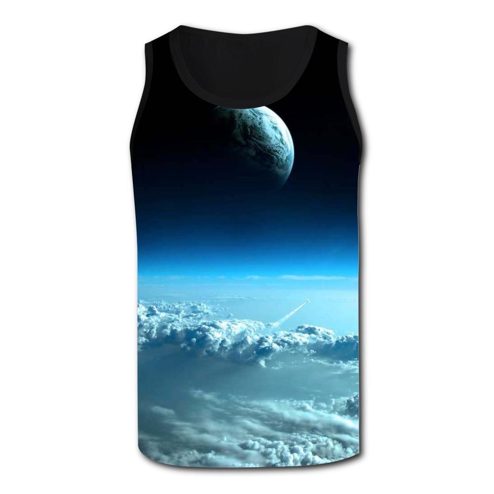 Gjghsj2 Fantastic Space Tank Top Vest Shirts Singlet Tops Sleeveless Underwaist for Men Football