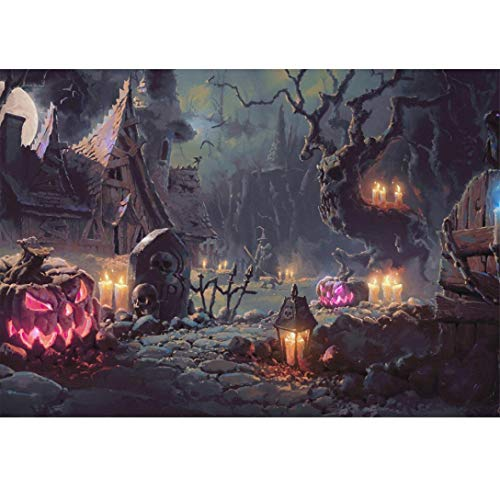 DIY 5D Diamond Painting,Dartphew Night of Terror & Grave of Death - Crafts & Sewing Cross Stitch,Wall Stickers for Home Living Room Decoration(Halloween,Size:40X30CM) -