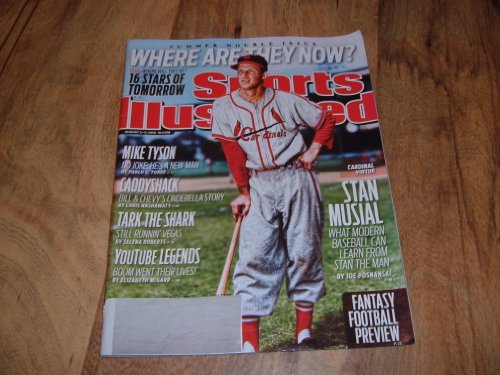 Sports Illustrated, August 2-9, 2010-Summer Double Issue. Where Are They Now? Stan Musial Great St. Louis Cardinal's player photo on cover.