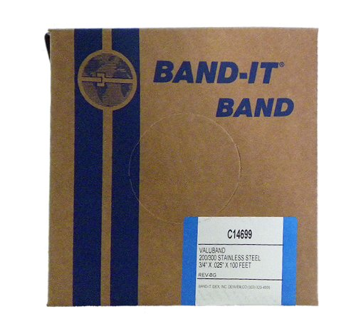 BAND-IT Valuband Band C14699, 200/300 Stainless Steel, 3/4'' Wide x 0.025'' Thick (100 Foot Roll) by Band-It